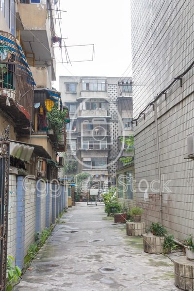 Back street in Chengdu, China - EggHeadStock