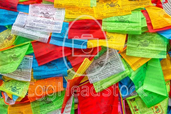 Background of Buddhist Tibetan prayer flags - EggHeadStock