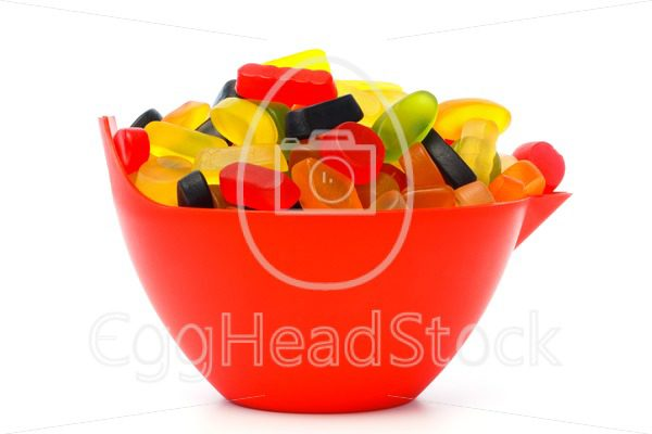 Bowl with colorful candy - EggHeadStock