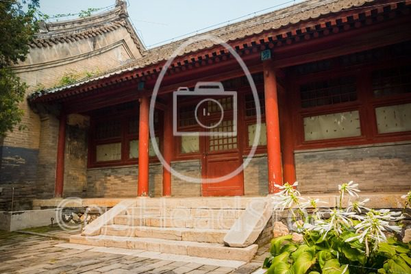 Building in Red Snail Temple, Beijing, China - EggHeadStock