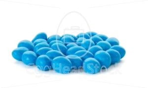 Bunch of blue chocolate sweets - EggHeadStock