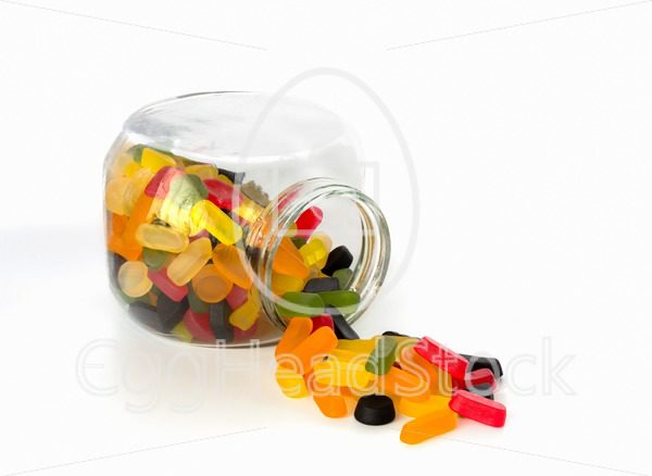 Candy jar with wine gums - EggHeadStock