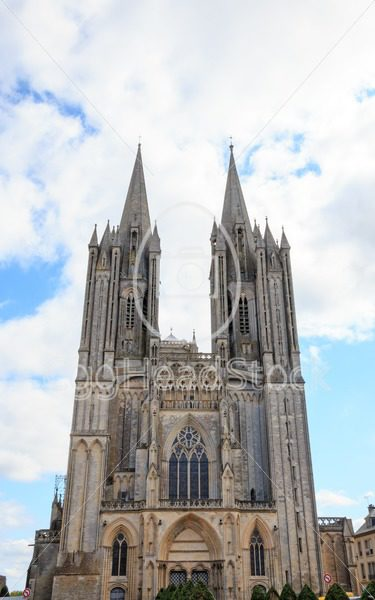 Cathedral Notre-Dame of Coutances, Normandy, France - EggHeadStock