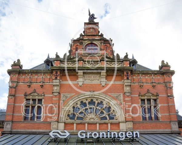 Central station building in Groningen, Netherlands - EggHeadStock