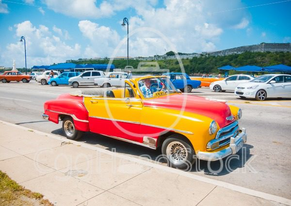 Chevrolet Bel Air converted into a cabriolet in Havana - EggHeadStock