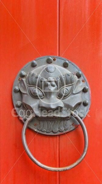 Chinese door fittings with a dragon head - EggHeadStock