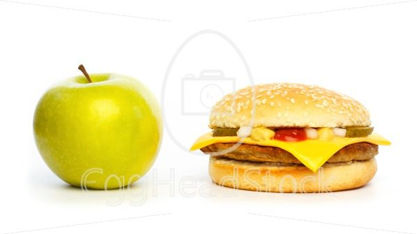 Choosing a healthy apple or an unhealthy burger - EggHeadStock