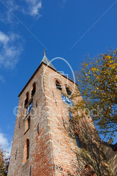 Church tower in northern Dutch village - EggHeadStock