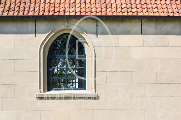 Church wall with a window - EggHeadStock