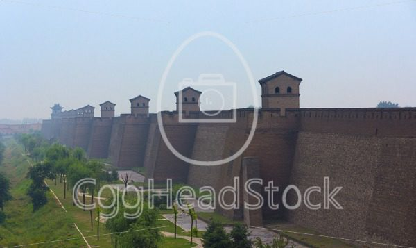 City wall of Pingyao, Shanxi province, China - EggHeadStock