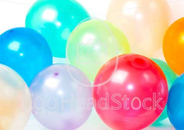 Close Up of balloons in various colors - EggHeadStock
