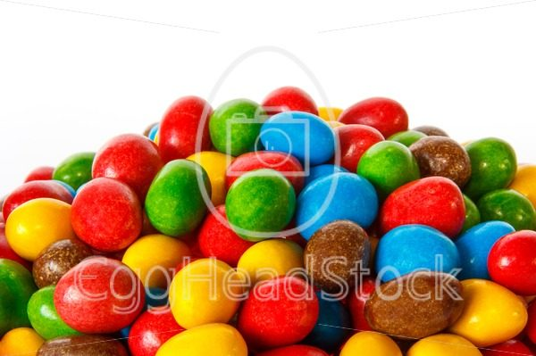 Closeup of colored chocolate sweets - EggHeadStock