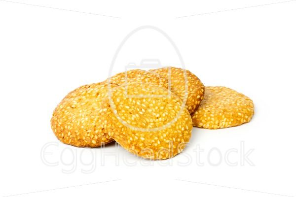 Couple of sesame cookies - EggHeadStock