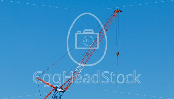Crane against blue sky - EggHeadStock