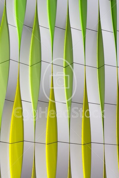 Detail of a modern facade with curved elements - EggHeadStock