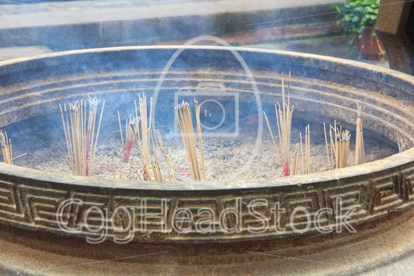 Detail of incense holder in Chinese temple - EggHeadStock