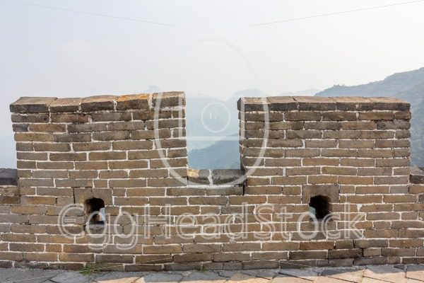 Detail of the Great Wall of China - EggHeadStock