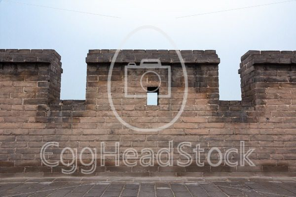 Detail of town wall around Pingyao, China - EggHeadStock