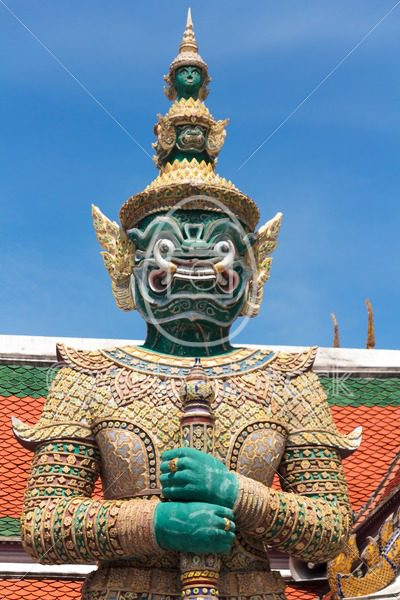 Dhosa Kiridhorn, statue guarding at Grand Palace, Bangkok - EggHeadStock