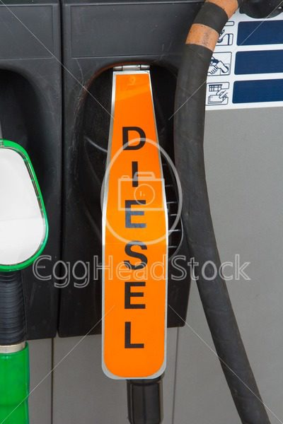 Diesel fuel nozzle at gas station - EggHeadStock