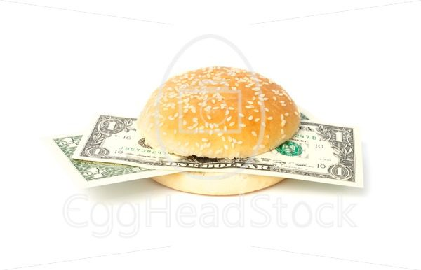 Dollar burger with bank notes - EggHeadStock