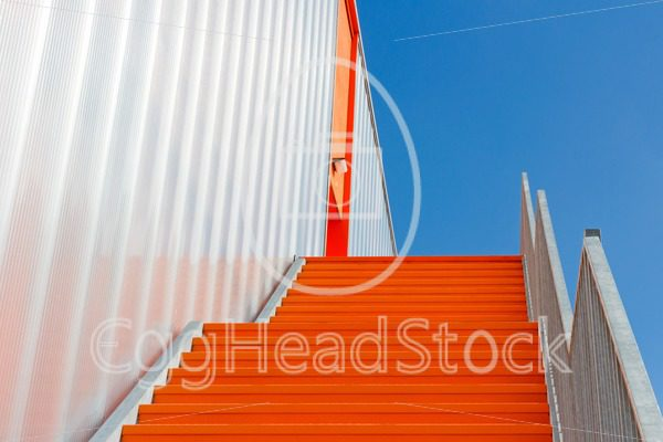 Down the orange emergency staircase - EggHeadStock