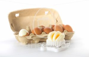 Egg slicer with a box of eggs - EggHeadStock