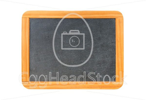 Empty vintage blackboard with wooden frame - EggHeadStock