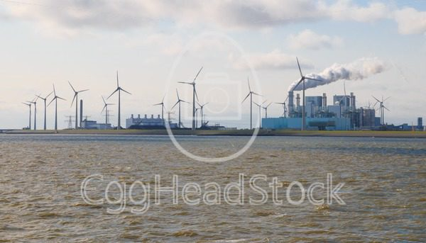 Energy production at the Eemshaven seaport in Groningen, Netherlands - EggHeadStock
