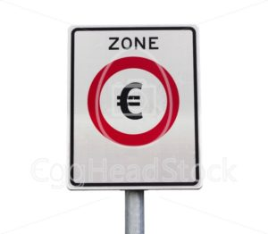 Euro zone road sign - EggHeadStock