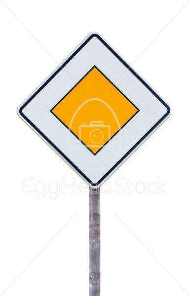 European priority road sign - EggHeadStock