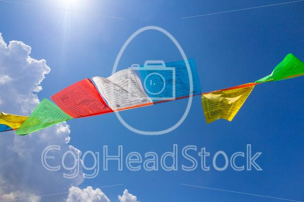 Few buddhist tibetan prayer flags - EggHeadStock