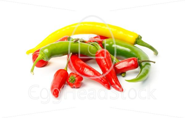 Group of colored hot peppers - EggHeadStock