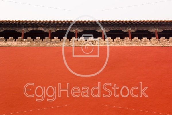 High wall around Forbidden City, Beijing, China - EggHeadStock