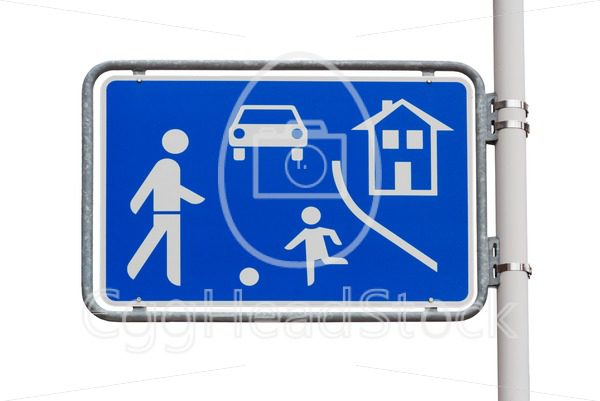 Home zone entry road sign - EggHeadStock