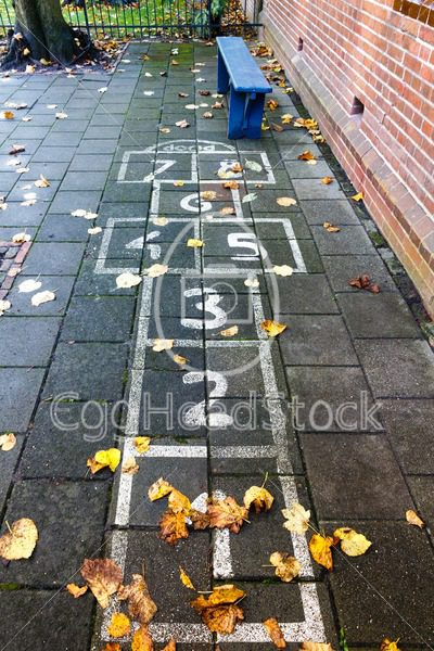 Hopscotch on the schoolyard - EggHeadStock