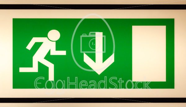 Illuminated emergency exit sign - EggHeadStock