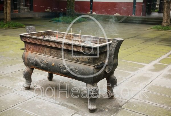 Incense holder in Buddhist temple - EggHeadStock