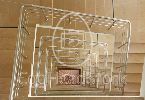 Indoor stairway in square spiral - EggHeadStock