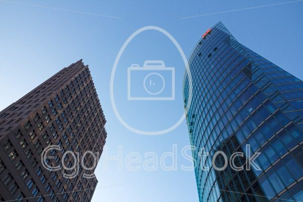 Kollhof tower and DB tower at the Potsdamer Platz, Berlin, Germany - EggHeadStock