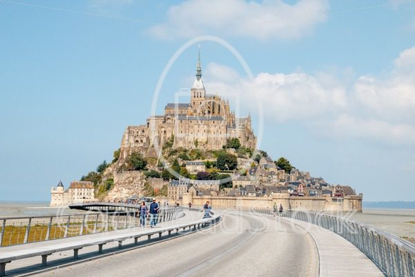 Le Mont Saint-Michel with the new bridge - EggHeadStock