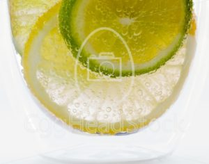 Lemon and lime in sparkling water - EggHeadStock