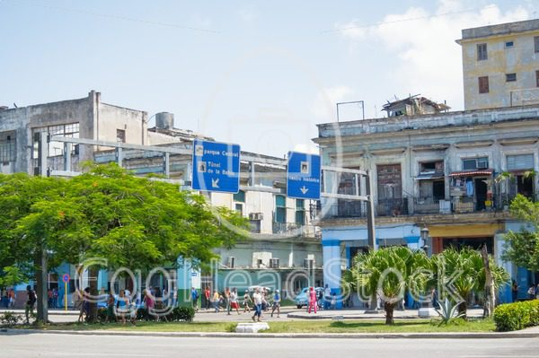 Modern direction signs in Havana, Cuba - EggHeadStock
