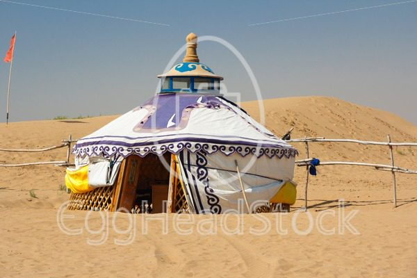 Mongolian Yurt in the Gobi Desert - EggHeadStock