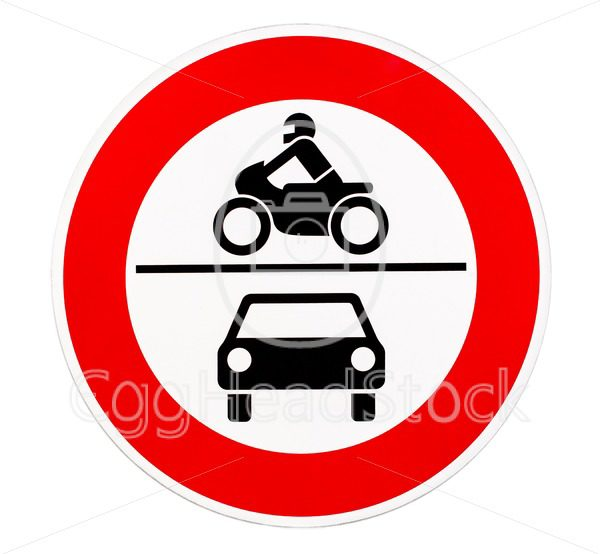 No access for motor vehicles traffic sign - EggHeadStock