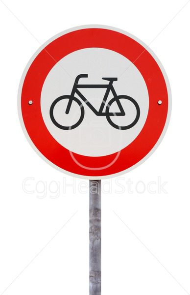 No entry for bicycles traffic sign - EggHeadStock