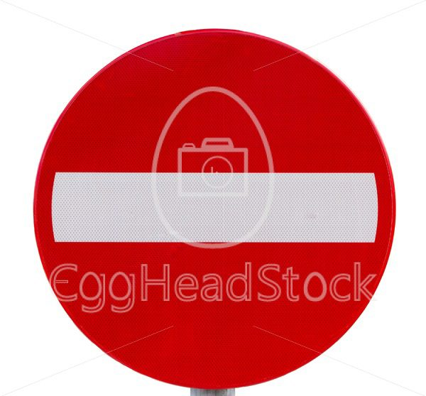 No entry traffic sign - EggHeadStock