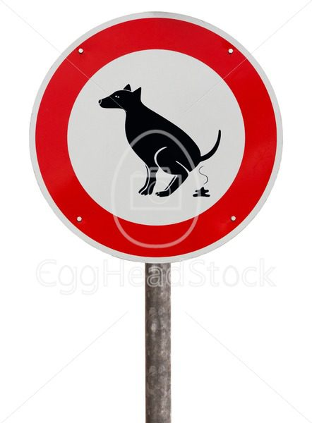 No exhaust place for dogs sign - EggHeadStock