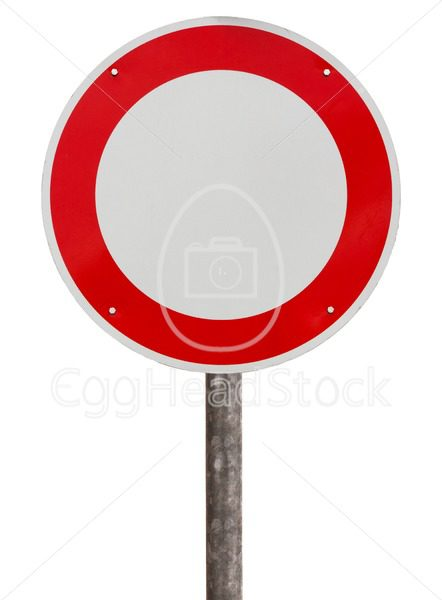 No vehicles traffic sign - EggHeadStock