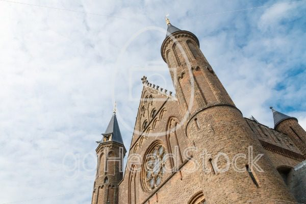 Oblique view of the Hall of Knights (Ridderzaal) in The Hague, Netherlands - EggHeadStock